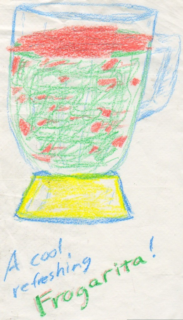 Yes, I drew this. In crayon. At a restaurant.